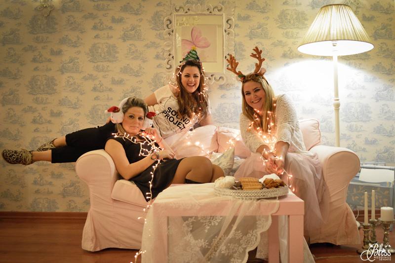 Santorini Bliss Weddings team, Seasons Greetings, fairylights, Christmas, sweets,candles, lace, pink, blue, decoration, happy new year, Manto Theochari, Helena Tsiouni, Georgia Vasilatou