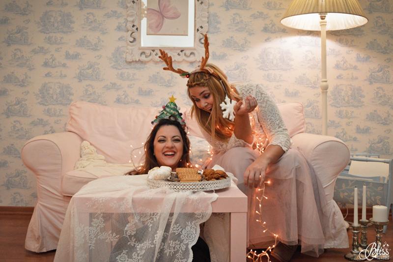 Santorini Bliss Weddings team, Seasons Greetings, fairylights, Christmas, sweets,candles, lace, pink, blue, decoration, happy new year, Manto Theochari, Georgia Vasilatou, fun