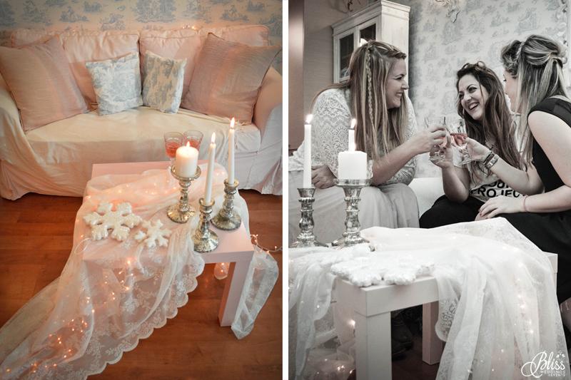 Santorini Bliss Weddings team, Seasons Greetings, fairylights, Christmas, sweets,candles, lace, pink, blue, decoration, happy new year, Manto Theochari, rose wine, Georgia Vasilatou