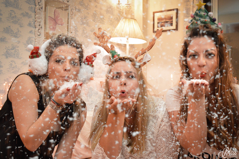 Santorini Bliss Weddings team, Seasons Greetings, fairylights, Christmas, sweets,candles, lace, pink, blue, decoration, happy new year, Manto Theochari, Helena Tsiouni, Georgia Vasilatou, snow, snowflakes, blow snow