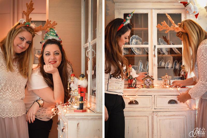 Santorini Bliss Weddings team, Seasons Greetings, fairylights, Christmas, sweets,candles, lace, pink, blue, decoration, happy new year, Manto Theochari, nutcracker, Georgia Vasilatou