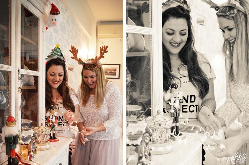Santorini Bliss Weddings team, Seasons Greetings, fairylights, Christmas, sweets,candles, lace, pink, blue, decoration, happy new year, Manto Theochari, nutcracker, Georgia Vasilatou, fun
