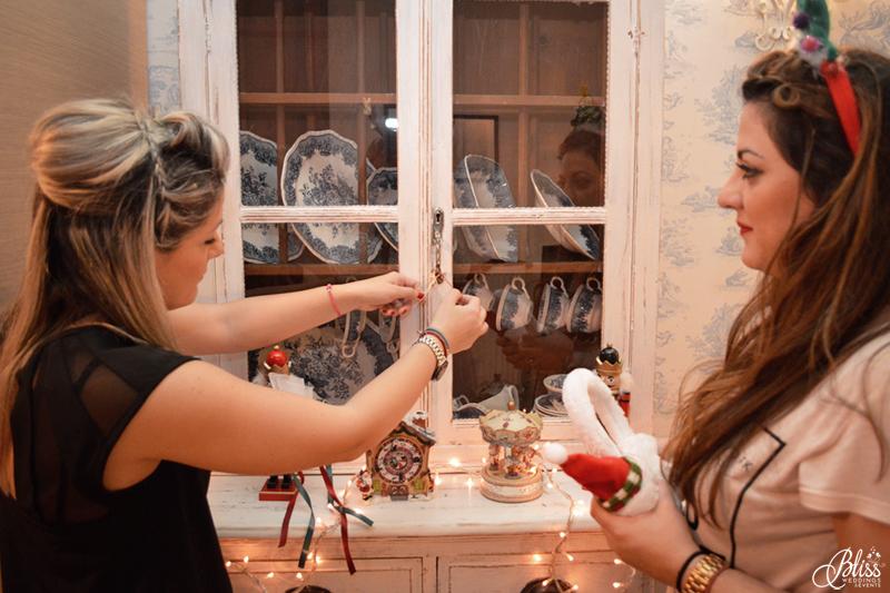 Santorini Bliss Weddings team, Seasons Greetings, fairylights, Christmas, sweets,candles, lace, pink, blue, decoration, happy new year, old furniture, porcelain, Helena Tsiouni, Georgia Vasilatou