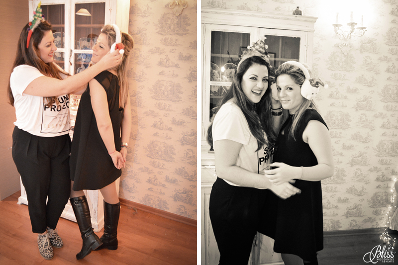 Santorini Bliss Weddings team, Seasons Greetings, fairylights, Christmas, sweets,candles, lace, pink, blue, decoration, happy new year, fun, christmas props, Helena Tsiouni, Georgia Vasilatou